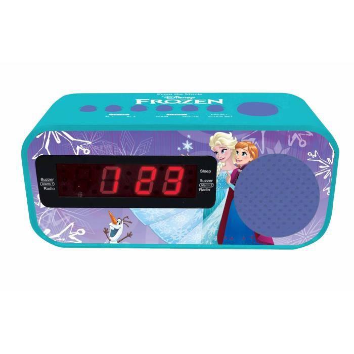LA REINE DES NEIGES Radio réveil fonction Snooze, adaptateur AC - LEXIBOOK