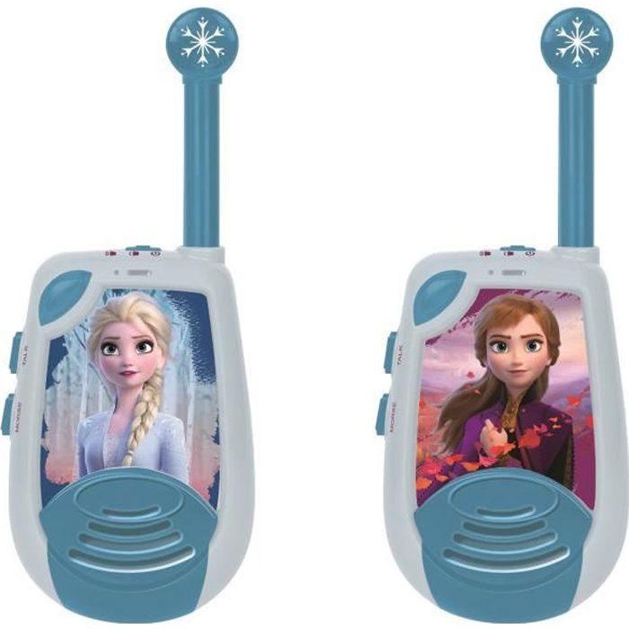 LA REINE DES NEIGES Talkies-walkies enfant Elsa et Anna 2 kilomètres de portée LEXIBOOK