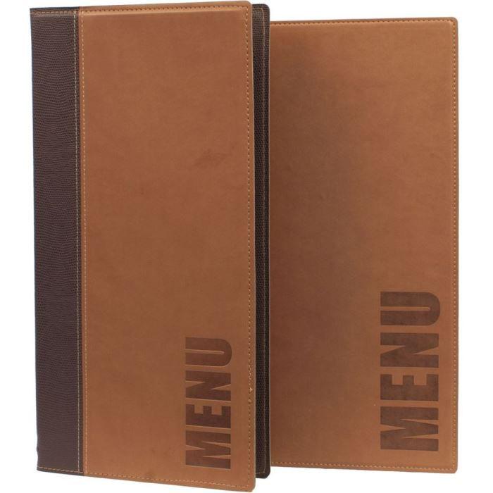 Protège menu brun clair long Tendance