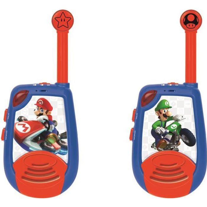 MARIO KART Talkie-walkie digitaux enfant portée à 2 km de portée et fonction morse LEXIBOOK