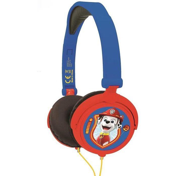 PAT' PATROUILLE Casque Casque stéréo filaire pliable pour enfants avec limitation de volume d'écoute - LEXIBOOK