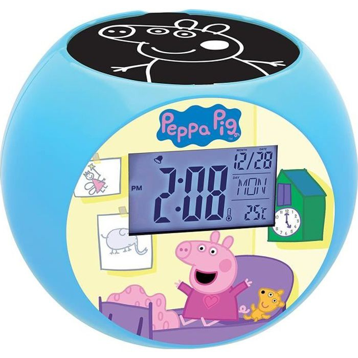 PEPPA PIG Radio réveil projecteur chambre enfant LEXIBOOK