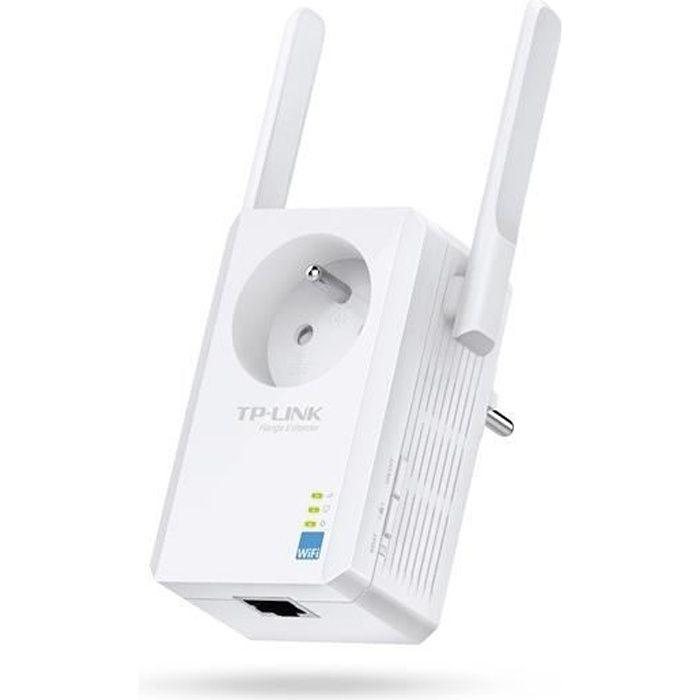 TP-LINK Répéteur Wi-Fi N 300 Mbps avec prise gigogne -WA865RE