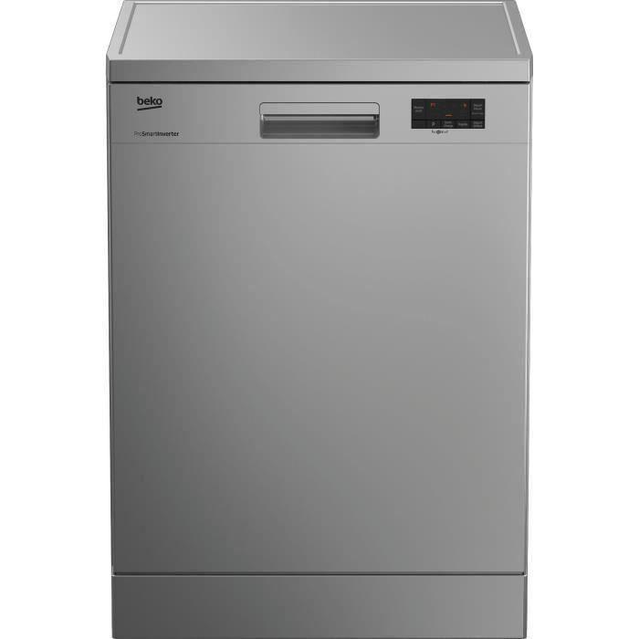 Lave-vaisselle pose libre BEKO LAP65S2 - 15 couverts - Moteur induction - Largeur 59,8 cm - Classe A++ - 45 dB - Silver
