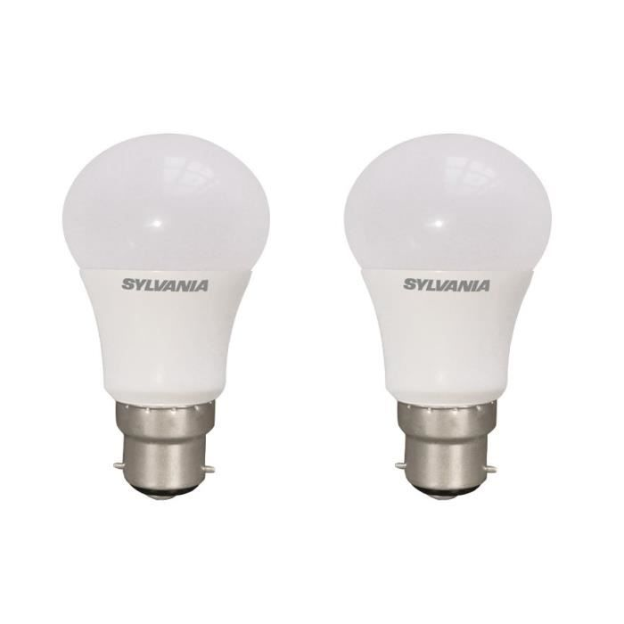 SYLVANIA Lot de 2 ampoules LED Toledo Retro B22 10 W équivalent à 60 W dimmable