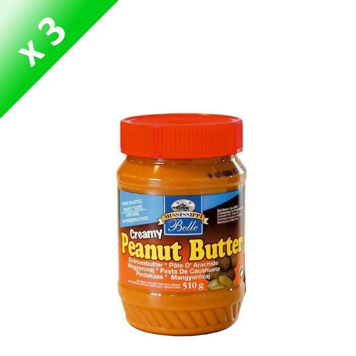 [LOT DE 3] MISSISSIPI BELLE Beurre de Cacahuètes Creamy - 510 g