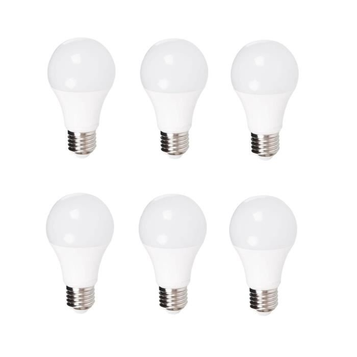 MACADAM LIGHTING Lot de 6 ampoules standard LED E27 10 W 806 lm type standard