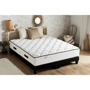 ENSEMBLE LITERIE CONFORT DESIGN Ensemble Matelas 180x200cm + 2 Somm