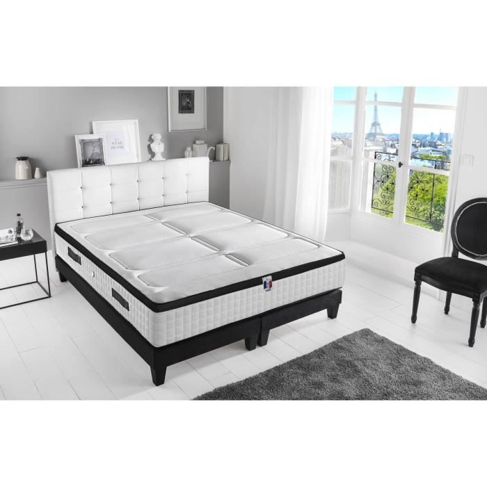 ENSEMBLE LITERIE CONFORT DESIGN Ensemble matelas + sommiers 2 x 90