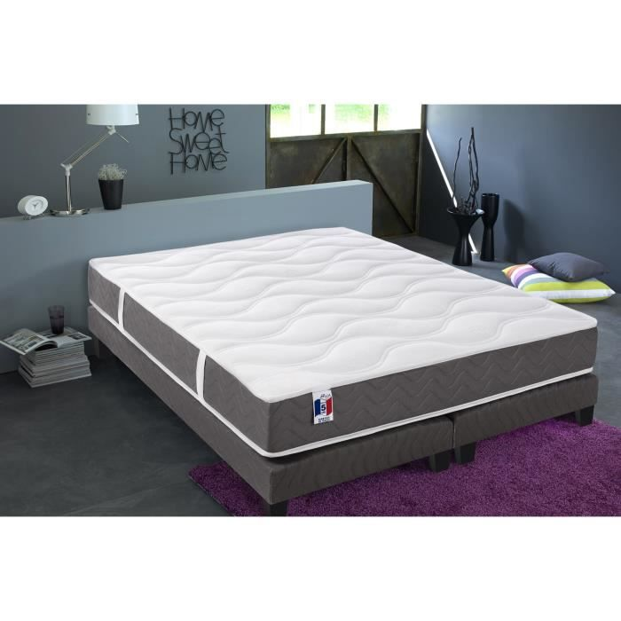 finlandek ensemble matelas sommier ukhea 160x200 cm. Black Bedroom Furniture Sets. Home Design Ideas