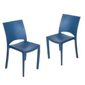 Chaise de jardin plastique - chaise pour salon de jardin en ...