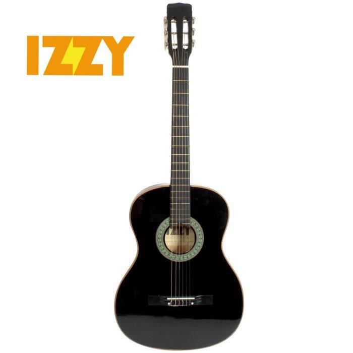 izzy guitare classique 4 4 noir achat vente guitare. Black Bedroom Furniture Sets. Home Design Ideas