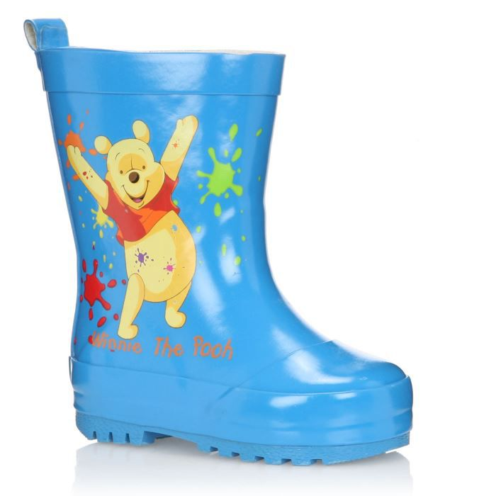 winnie the pooh bottes de pluie gerasa b b gar on bleu achat vente botte cadeaux de no l. Black Bedroom Furniture Sets. Home Design Ideas