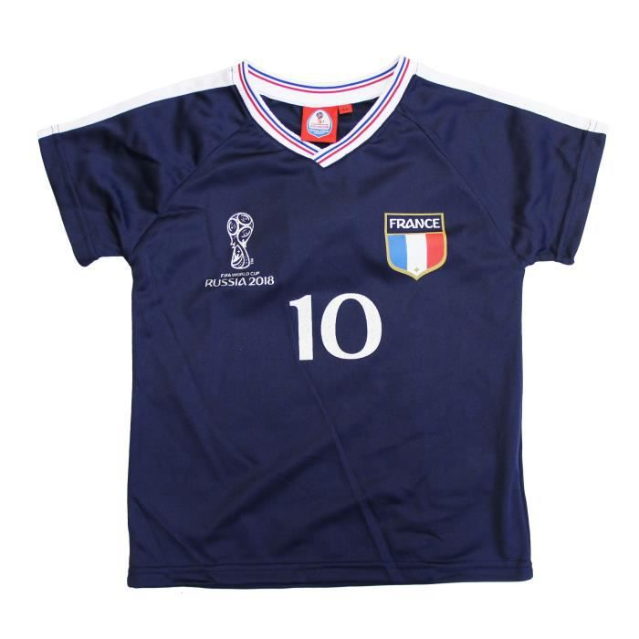 fifa france tee shirt coupe du monde 2018 bleu enfant. Black Bedroom Furniture Sets. Home Design Ideas