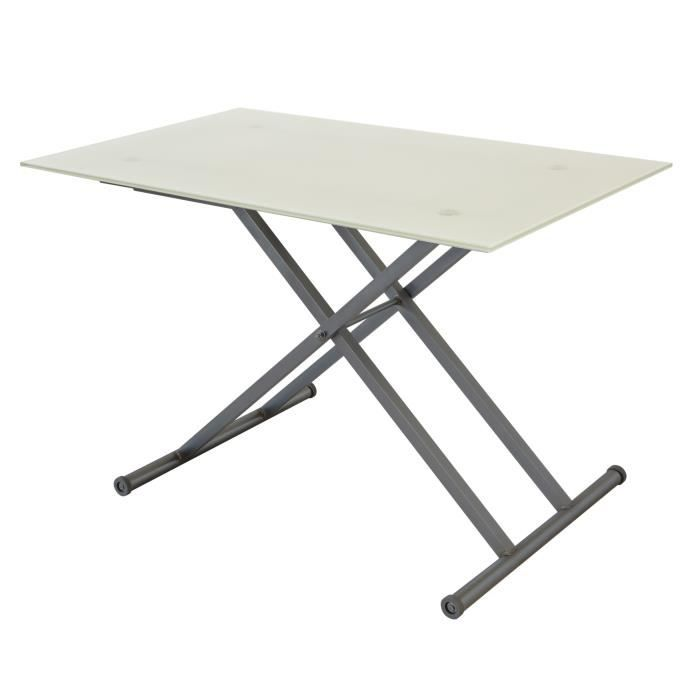 TABLE BASSE MARBELLA Table basse relevable 4 personne - Platea