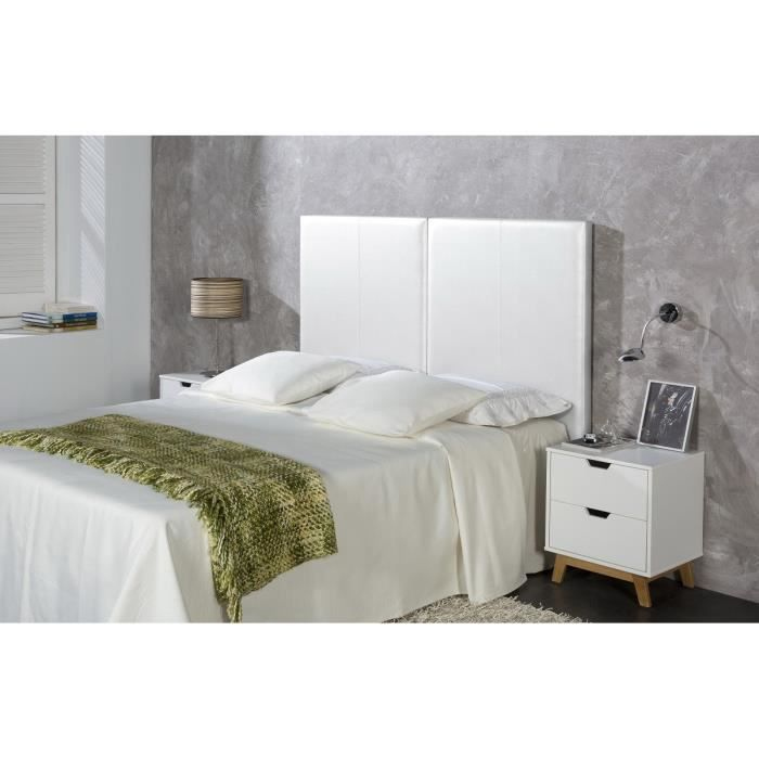 tete de lit 160 blanc maison design. Black Bedroom Furniture Sets. Home Design Ideas