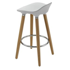 perfect tabouret de bar oslo tabouret de bar blanc pieds bois massif s with fabriquer un. Black Bedroom Furniture Sets. Home Design Ideas