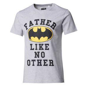 T-SHIRT BATMAN Tee Shirt Papa manches courtes gris chiné H