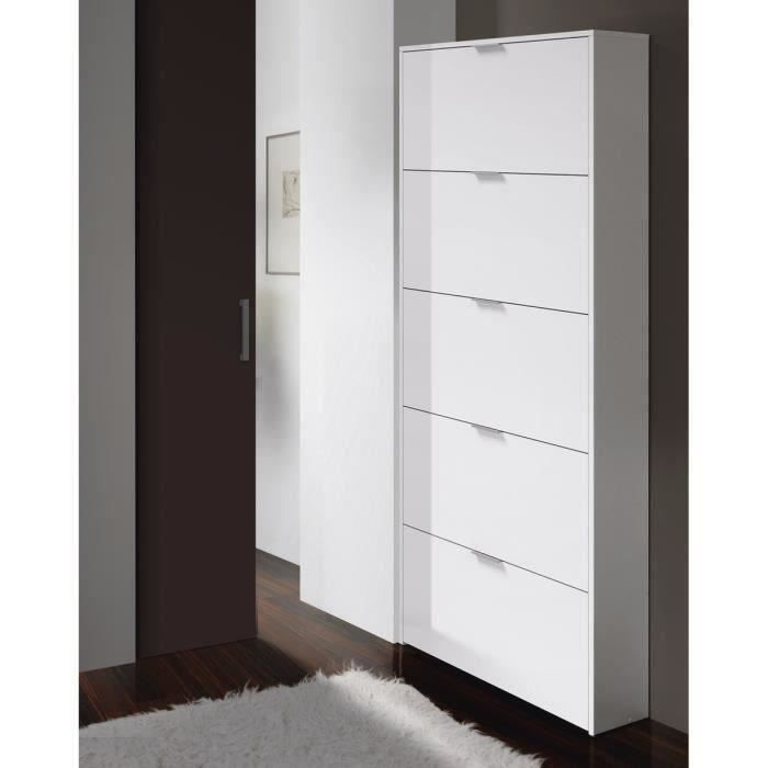 zapa meuble chaussures contemporain blanc brillant l. Black Bedroom Furniture Sets. Home Design Ideas