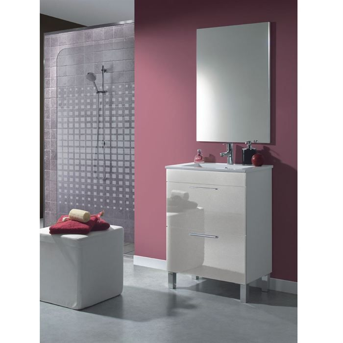 dekor meuble 60 salle de bain avec miroir achat vente. Black Bedroom Furniture Sets. Home Design Ideas