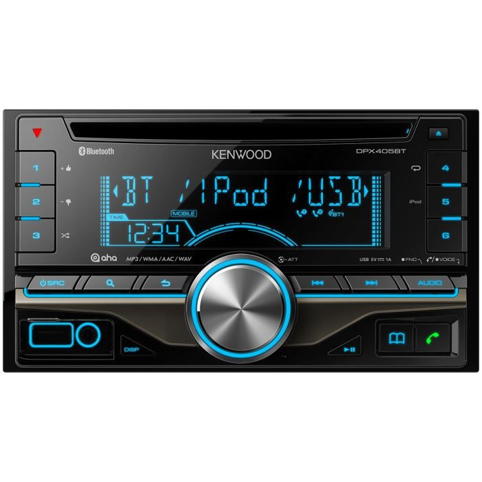 kenwood dpx405bt autoradio 2 din cd usb bluetooth achat. Black Bedroom Furniture Sets. Home Design Ideas
