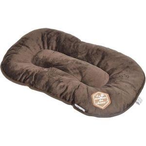 CORBEILLE - COUSSIN Coussin flocon Patchy - 77 cm - Coloris : chocolat