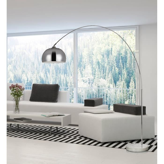 bigarc lampadaire arc chrome hauteur achat. Black Bedroom Furniture Sets. Home Design Ideas