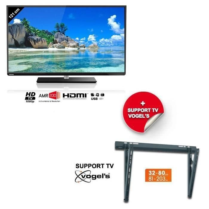 Toshiba 48l5445dg smart tv 122 cm support mural pack - Support tv mural 127 cm ...