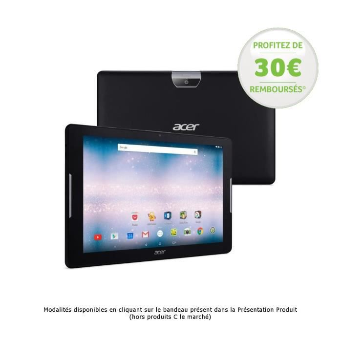 acer tablette tactile iconia one 10 10 1 hd 1go ram android 6 0 quad core rom 16go. Black Bedroom Furniture Sets. Home Design Ideas