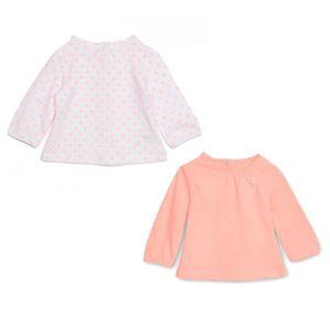 T-SHIRT BEBE REVE Lot de 2 tee-shirts - Jersey - Rose et b