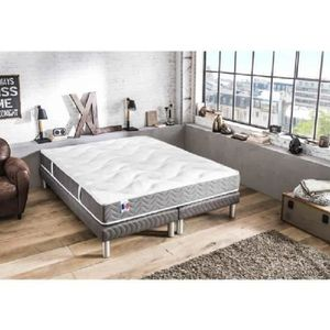 ENSEMBLE LITERIE CONFORT DESIGN Ensemble matelas + sommier 160 x 20