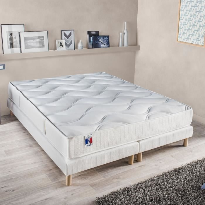 gari ensemble matelas 2 sommiers 180x200 cm latex ferme 80 kg m3 2 personnes achat. Black Bedroom Furniture Sets. Home Design Ideas
