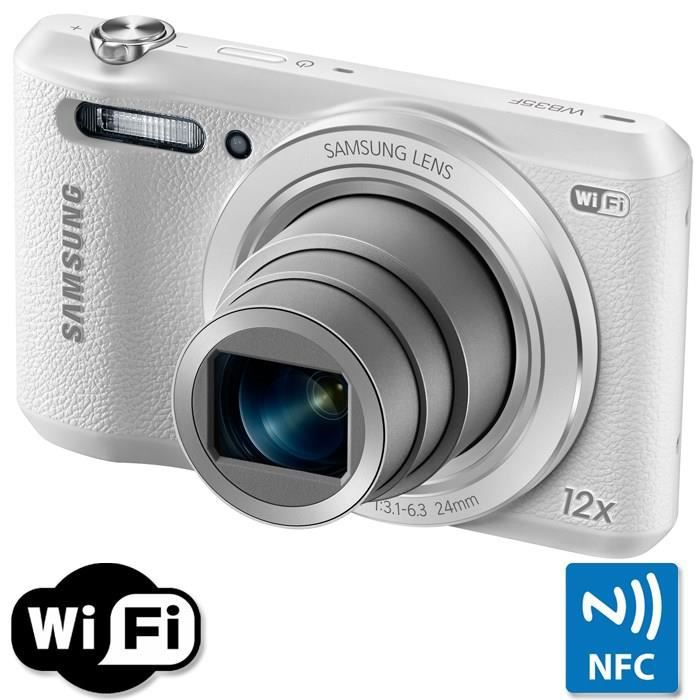 samsung wb35f blanc ccd 16mp zoom 12x appareil photo. Black Bedroom Furniture Sets. Home Design Ideas