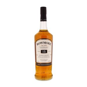 WHISKY BOURBON SCOTCH Whisky Bowmore 15 ans d'âge Golden Elegant Single