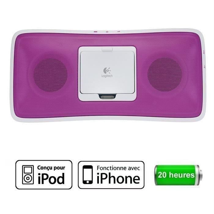 ENCEINTES BLUETOOTH Logitech S315i Pink Rechargeable Speaker
