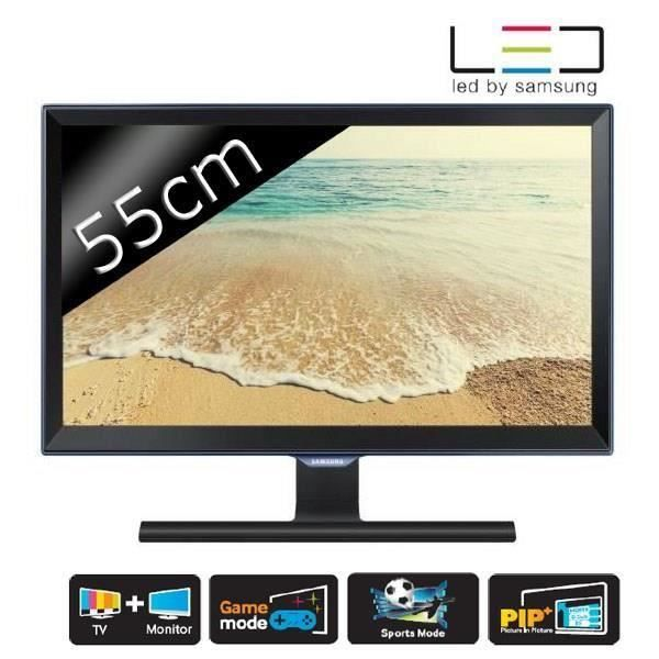 destockage samsung t22e390ew moniteur tv full hd tnt hd 55cm t l viseur led au meilleur prix. Black Bedroom Furniture Sets. Home Design Ideas