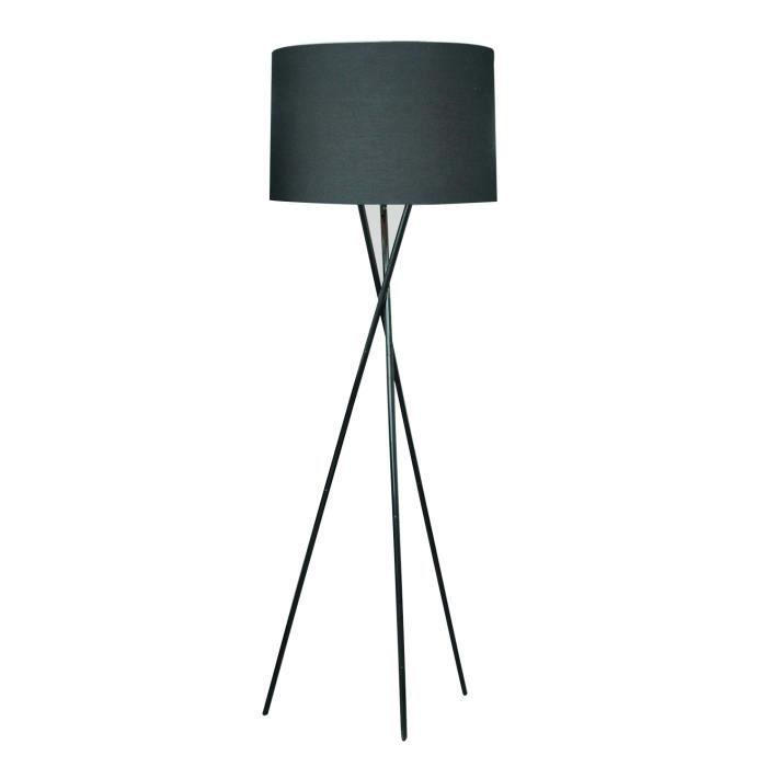 lampadaire mikado noir tr pied hauteur 160cm achat. Black Bedroom Furniture Sets. Home Design Ideas