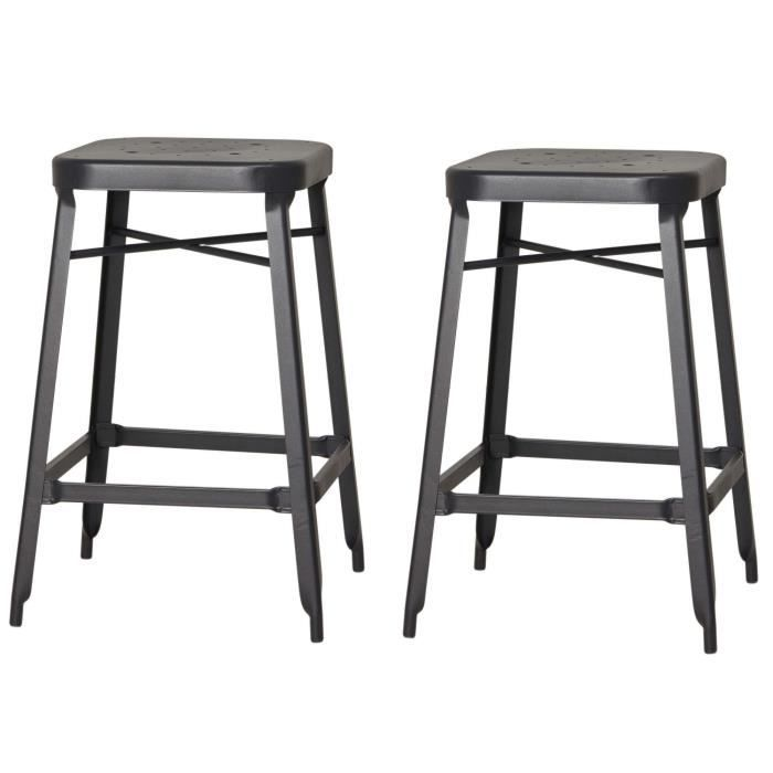 tabouret industriel 65 cm achat vente tabouret industriel 65 cm pas cher soldes d s le 10. Black Bedroom Furniture Sets. Home Design Ideas