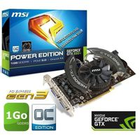 CARTE GRAPHIQUE MSI GTX650 Ti 1Go GDDR5 OC Power Edition