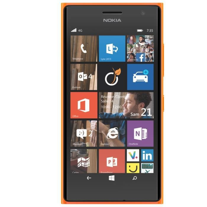 microsoft nokia lumia 735 4g orange smartphonespaschers. Black Bedroom Furniture Sets. Home Design Ideas
