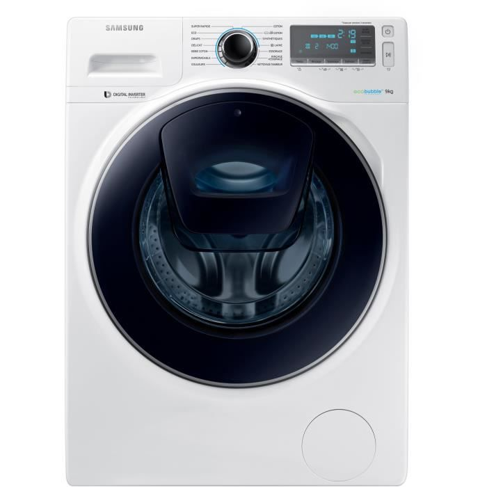 samsung ww90k7415ow lave linge frontal 9 kg 1400 trs min a blanc moteur. Black Bedroom Furniture Sets. Home Design Ideas