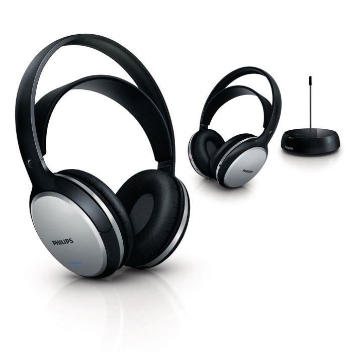 philips shc5102 duo casques sans fil tv achat vente. Black Bedroom Furniture Sets. Home Design Ideas