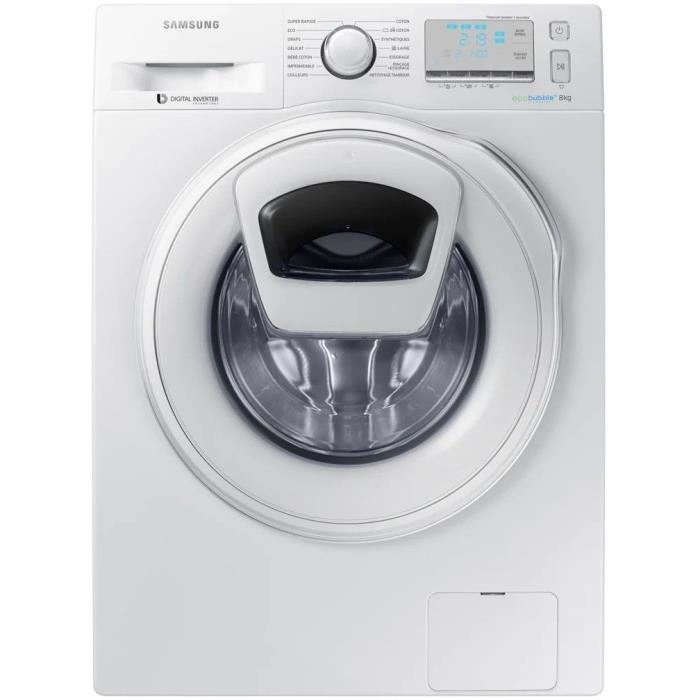 samsung addwash ww8ek6415sw lave linge frontal 8kg. Black Bedroom Furniture Sets. Home Design Ideas