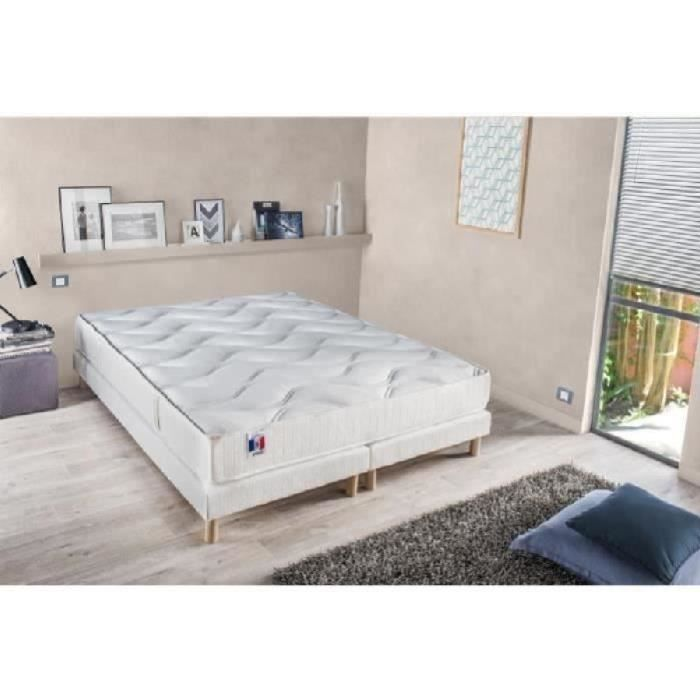 confort design ensemble matelas sommiers 160x200cm 18cm 100 latex ferme 73kg m achat vente. Black Bedroom Furniture Sets. Home Design Ideas