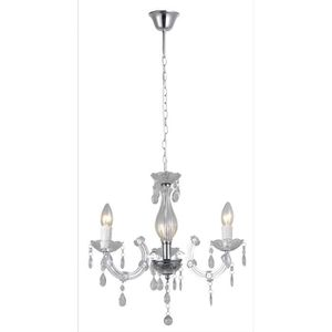LUSTRE ET SUSPENSION RUBENS lustre 3 lumières Ø48cm transparent - Haute