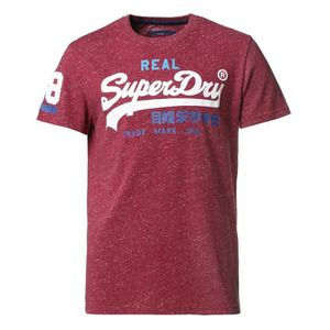 T-SHIRT SUPERDRY T-Shirt Vintage Rouge Homme