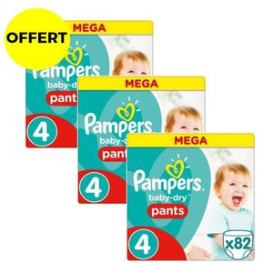 COUCHE PAMPERS  Baby Dry Pants Taille 4 - 246 couches - F