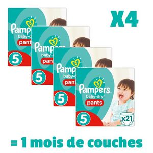COUCHE PAMPERS Baby Dry Pants Taille 5 - 12 à 18kg - 84 c
