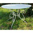 Casa Padrino table de jardin en fer forgé - couleurs - Ø115 cm x 75 cm -  luxe meubles de jardin [grey]