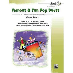 PARTITION Famous - Fun Pop Duets: 6 Duets for One Piano, Fou